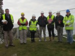 From left: Frank Donnelly, Senior Architectural Advisor, Dept. of Arts, Heritage and Gaeltacht (DAHG), Celine Walsh, Archaeologist, National Monuments Service (DAHG), Pauline Gleeson, Senior Archaeologist, National Monuments Service (DAHG), Joe (Denary) Doherty, Carrickabraghy Committee, Paul Doherty, Consulting Engineer and Project Manager, Duncan McLaren, Conservation Architect and Richard Crumlish, Project Archaeologist.