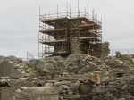 South east elevation of the castle with scaffolding – let the conservation work begin (weather permitting)!
