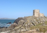 View of castle looking towards Malin Head