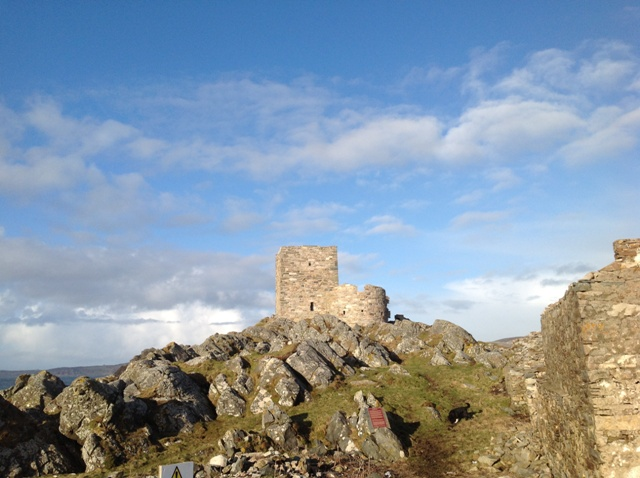 Carrickabraghy Castle - Keep and Round Tower